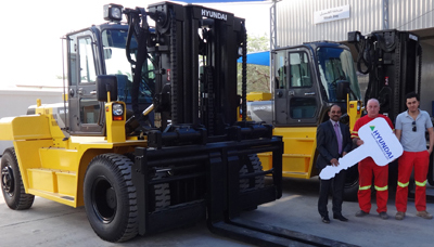 Aluserv Middle East Receives New Hyundai Forklifts